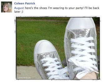 One of my favorite blogging pals, Coleen, got the disco ball rolling—with her FEET!