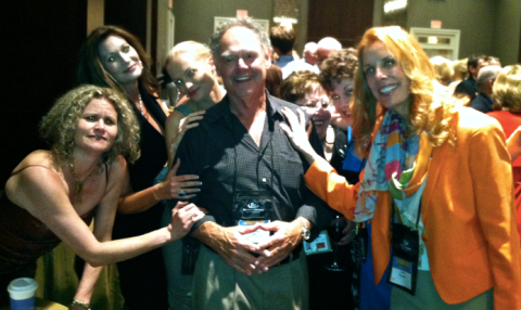D.P. Lyle and his throng! (Me, Amy Shojai, Carol Shenold, Twist Phelan)