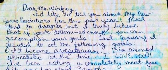 Oprah letter