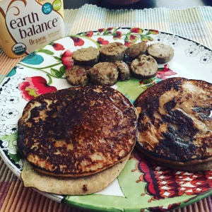 As I savored these banana pancakes and veggie sausage the other day, the ease wasn't lost on me.